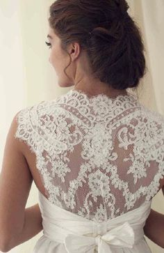 Lace back- good way to not to draw attention to my tattoo and to incorporate the texture I love #dress