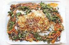 One Pan Asian Snapper with Sesame Sweet Potato & Kale. I'm obsessed with these simple one pan dinners – showing you how easy your everyday meals should be! This recipe works perfectly with any white fish – snapper, john dory, barramundi – whatever is local and seasonal! Sweet potato is also an excellent low-GI carbohydrate and those crunchy kale chips? Beyond!   One Pan Asian Snapper …