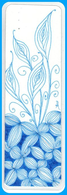 Zentangle Bookmark  distangleart.blogspot.com