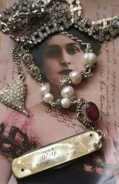 On Sale Victorian Steampunk Steampunk jewelry Steampunk Heart Jewelry, Jewelry Art, Vintage Jewelry, Handmade Jewelry, Jewelry Ideas, Vintage Items, Medieval Jewelry, Gothic Jewelry, Silver Jewellery