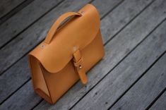Stunning small handmade leather bag on Ped's & Ro Leather Blog