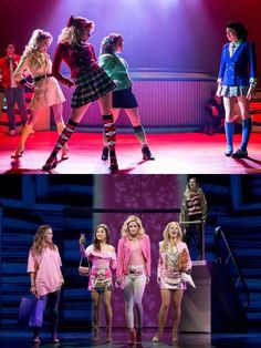 Heathers drawing reference for heathers vs Schuyler sisters Theatre Nerds, Music Theater, Broadway Theatre, Broadway Shows, Heathers The Musical, Heathers Costume, Dear Even Hansen, Mean Girls, Musicals