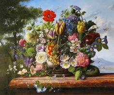 Enjoy our large collection of Gyuka Siska Original Oil Paintings. Siska's highly detailed florals are reminiscent of old master paintings. 17th Century Art, Still Life Art, Old Master, Life Inspiration, Flower Art, Fine Art, Artwork, Flowers, Floral Paintings
