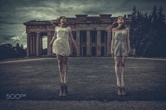 Another one for the twins series Models Jesse and Layla Fraser Identical twins One epic location in Hampshire One simple jump shot Cunning processing in Lightroom CC and Perfect effects Identical Twins, Sister Friends, Another One, Hampshire, Lightroom, Sisters, Angels, Model, Photography