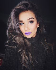 "We are loving our Liquid Suede Cream Lipstick in the color, ""Sway"" on @emilyamandamohr!"