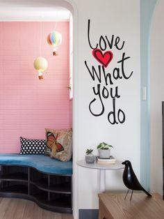 Adesivo de parede love what you do - StickDecor | Decoração Criativa