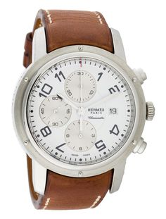 Hermès Clipper Chronograph Watch - Mens Watches - The RealReal