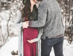 Winter Woodland Maternity Photos - Inspired By This