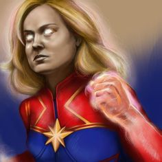 CaptainMarvel by ohmanhoman on DeviantArt Captain Marvel, How To Find Out, Wonder Woman, Deviantart, Superhero, Illustration, Illustrations, Superheroes, Wonder Women