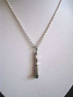 Exclusive Doctor Who 11th Doctor Sonic Screwdriver Charmed Interpreted Necklace. $25.00, via Etsy.