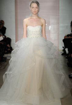 Reem Acra Fall 2014 Wedding Dresses for Kelly Wedding Dresses 2014, Bridal Dresses, Wedding Gowns, Bridesmaid Dresses, Wedding Cake, Estilo Fashion, Looks Vintage, Bridal Style, Wedding Styles