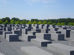 Holocaust Memorial, Berlin, Germany I was here in the winter with snow.  We wrote messages in the snow atop the cubes.