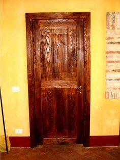 Porta a Libro in legno di Pino a doghe verticali | Porte Interne ...