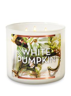 White Pumpkin 3 Wick Candle Bath And Body Works Candles Fall