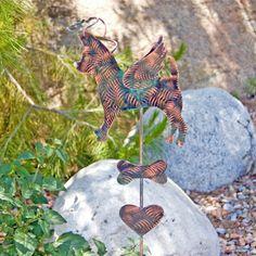 Chihuahua Metal Garden Art Stake / Pet Memorial / Copper Art / Yard Art / Dog Art / Animal Sculpture / Silhouette / Dog Lover Gift / Spike