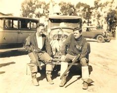great photo of Lou Gehrig and Babe Ruth, Bolsa Chica Gun Club, 1925
