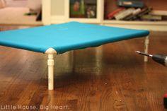 DIY Raised PVC Dog Bed - Little House. Big Heart.