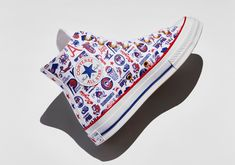 Converse Basketball, Converse All Star, Converse Chuck, Blue And White Style, Red And Blue, High Top Chucks, Blue Color Schemes, One Star