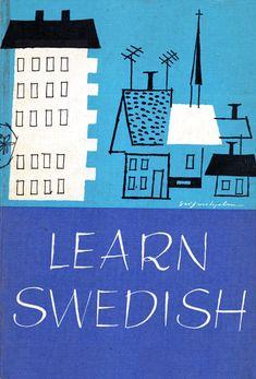 Learn Swedish, 1959, illustrations by Per Silfverhjelm. Via the big forest UK