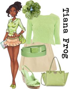 """""""High School Tiana"""" by nightwatchman54 ❤ liked on Polyvore"""