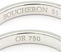 【楽天市場】ブシュロン 750WG ポワント・ド・ディアマン リング 刻印51 実寸10.5号/91920 18金ホワイトゴールド 指輪…