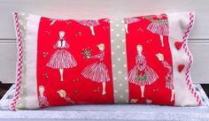 Christmas Pillow, Patchwork Holiday Hostess Decorative Pillow, 40cm x 23cm, Christmas Decor