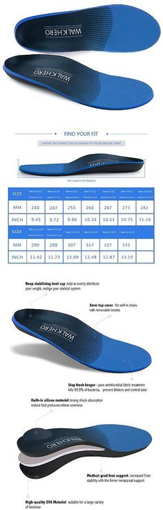 49a6810cb4 Insoles 169284: Orthopedic-Insole Plantar Fasciitis Insoles Arch Support Orthotics  Shoe Inserts -> BUY IT NOW ONLY: $10.87 on #eBay #insoles #plantar ...