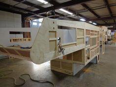 Construction of my 2016 Northstar Laredo SC Truck Camper Slide In Truck Campers, Camper Trailer For Sale, Build A Camper, Pickup Camper, Camper Trailers, Pickup Trucks, Camper Van, Petit Camping Car, Truck Bed Camping