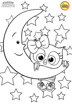 Cuties Coloring Pages for Kids - Free Preschool Printables - Slatkice Bojanke - Cute Animal Coloring Books by BonTon TV Free Printable Coloring Sheets, Coloring Sheets For Kids, Free Adult Coloring Pages, Cute Coloring Pages, Christmas Coloring Pages, Coloring Pages To Print, Unicorn Coloring Pages, Animal Coloring Pages, Coloring Books