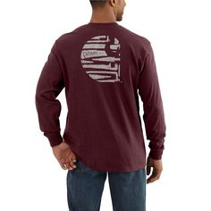 *NEW* Workwear Graphic Branded C Long Sleeve Pocket T-Shirt - The Brown Duck