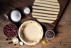 Ingredients for Cranberry Raisin Pie