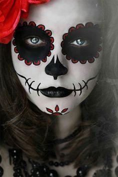 Maquillage halloween crâne en sucre - déguisement halloween cool