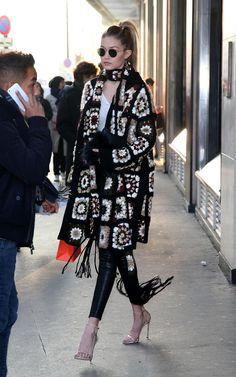 Gigi Hadid wearing Rosetta Getty