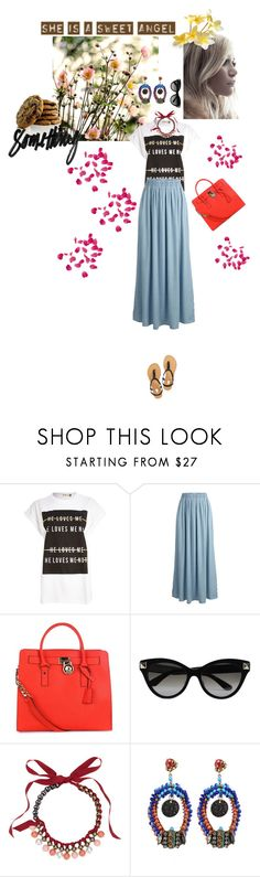 """""""She Is A Sweet Angel"""" by cumiii ❤ liked on Polyvore featuring River Island, SELECTED, MICHAEL Michael Kors, Valentino, Lanvin and Erickson Beamon"""