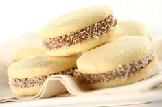 Alfajores: Latin America biscuits sandwiched with dulce de leche.
