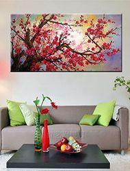 Pintada a mano Floral/BotánicoClásico / Tradicional Tres Paneles Lienzos Pintura al óleo pintada a colgar For Decoración hogareña 2016 - €68.3