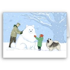 Keeshond Christmas Card, Want it cheaper? Use this link for coupons: https://www.zazzle.com/coupons?rf=238077998797672559