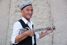 Uyghur Musician    Turpan Xinjiang China