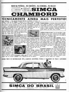 Publicidades antigas de carros: Simca Chambord