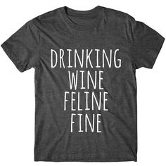 Metallic Gold Print Drinking Wine Feline Fine Womens Graphic Tee... ($14) ❤ liked on Polyvore featuring tops, t-shirts, black, women's clothing, graphic shirts, sleeve t shirt, metallic t shirt, metallic gold t shirt and t shirt