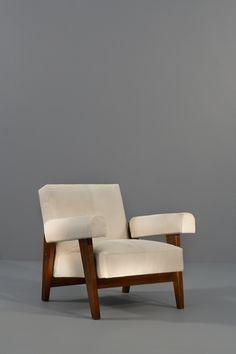 Pierre Jeanneret, high court down fauteuil
