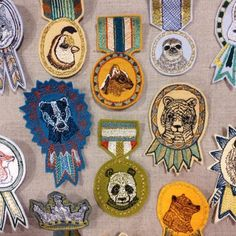 CORAL & TUSK badges and medals