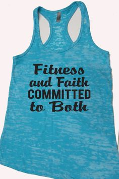Fitness and Faith Committed to Both Fitness Tank Top. Motivational Workout Tank. Mothers Day Gift. Christian Tank Top. by WorkItWear on Etsy, $21.95