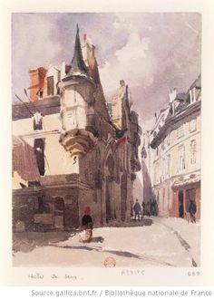 Hôtel de Sens  Richard Parkes Bonington, c.1820