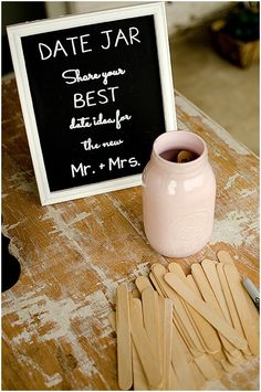 wedding date jar