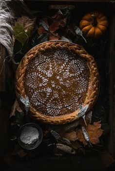 Brown Butter Chai Pumpkin Pie with Sugared Sage | TermiNatetor Kitchen
