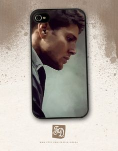 Iphone 4 / 4s hard or rubber case Supernatural  Dean by FeerieDoll, $15.75