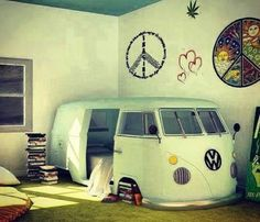 Cute hipster bedroom ♡