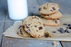 Nut and dairy free 'Peanut' Butter Chocolate Chip Cookies - Chewy, moist and inc. - Nut and dairy free 'Peanut' Butter Chocolate Chip Cookies – Chewy, moist and incredible! Gluten Free Sweets, Paleo Dessert, Healthy Sweets, Dessert Recipes, Healthy Food, Gluten Free Chocolate Chip Cookies, Paleo Cookies, Gluten Free Cookies, Seed Cookies