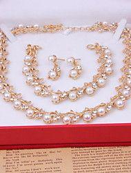 Damen+Hochzeit+Party+Besondere+Anlässe+Geburtstag+Verlobung+Alltag+Aleación+Ohrringe+Halsketten+Armbänder+–+EUR+€+19.29